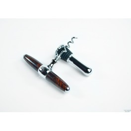 Wood Wine Stopper Cork Screw Combo - Rosewood Burl