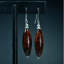 Rosewood Burl Earrings Torpedo