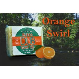 Rubba Dub Soap - Orange Swirl