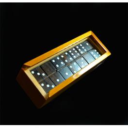 Double 6 Set of Dominoes in Mahogany Box