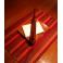 Mahogany napkin holder