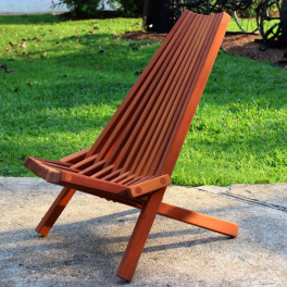 Belize Clam Chair Mahogany