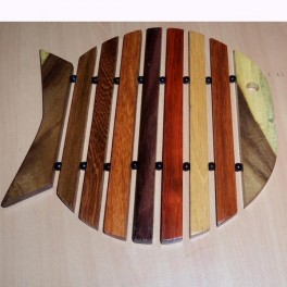 Fish Design Hardwood Trivet