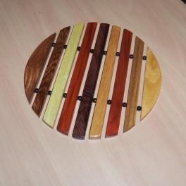 Round Hardwood Trivet