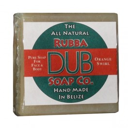 Rubba Dub Soap - Orange Swirl