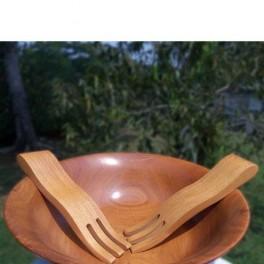 Large Wooden Serving Forks - Pair