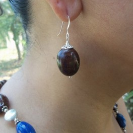 Rosewood Burl Earring