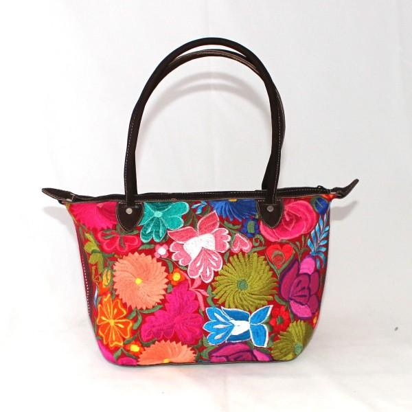 563b3d125 Medium Size Flower-Embroidered Purse