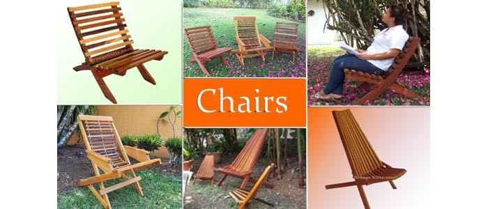 Handcrafted Wood Chairs